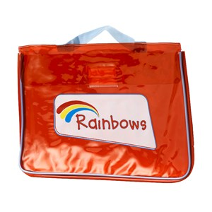 Rainbows red welcome folder bag