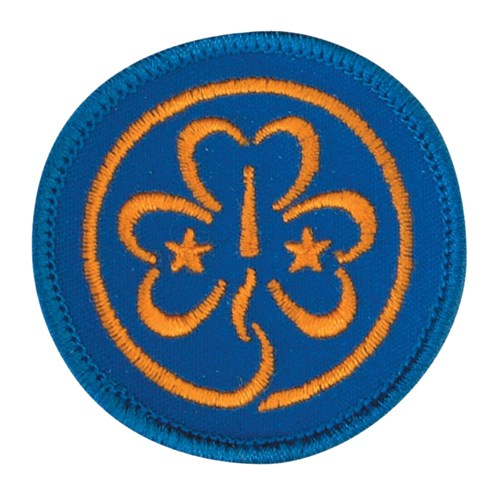 The World Association of Girl Guides and Girl Scouts woven badge