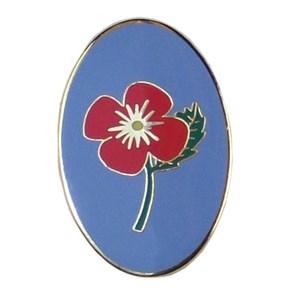 Patrol pin badge poppy