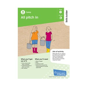 Camp skills builder stage 3 all pitch in activity resource