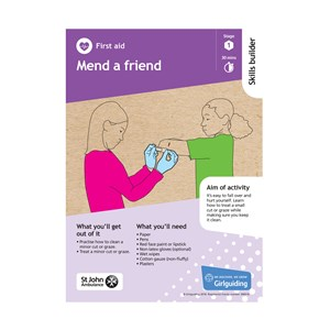 First Aid skills builder stage 1 Mend a friend activity resource