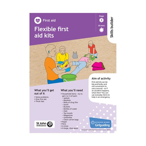 First Aid skills builder stage 3 Flexible first aid kits activity resource