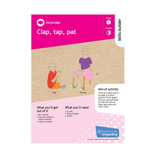 Innovate skills builder stage 1 clap, tap, pat activity resource