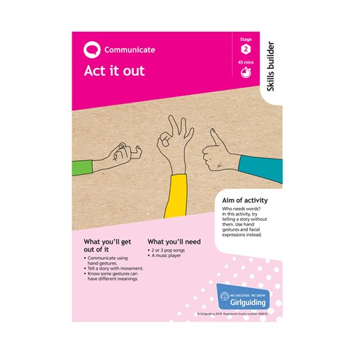 Communicate skills builder stage 2 Act it out activity resource