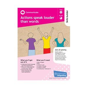 Communicate skills builder stage 4 Actions speak louder than words activity resource