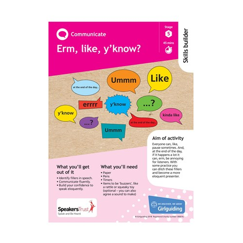 Communicate skills builder stage 5 Erm, like, y'know activity resource