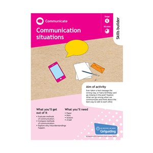Communicate skills builder stage 6 Communication situations activity resource