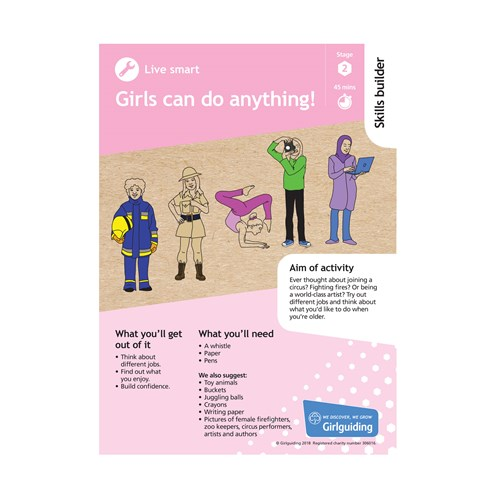 Live smart skills builder stage 2 Girls can do anything activity resource