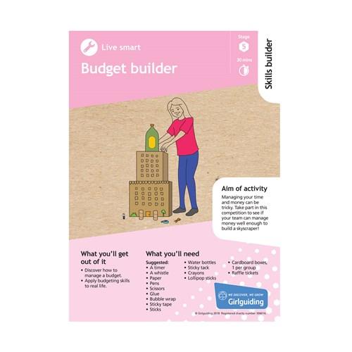 Live smart skills builder stage 5 Budget builder activity resource