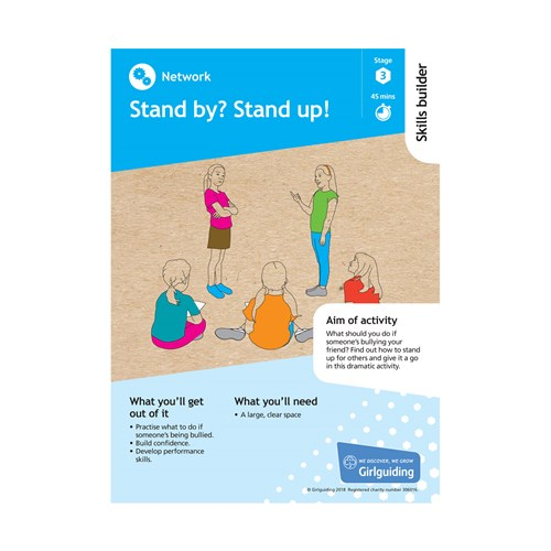 Network skills builder stage 3 stand by? Stand up activity resource