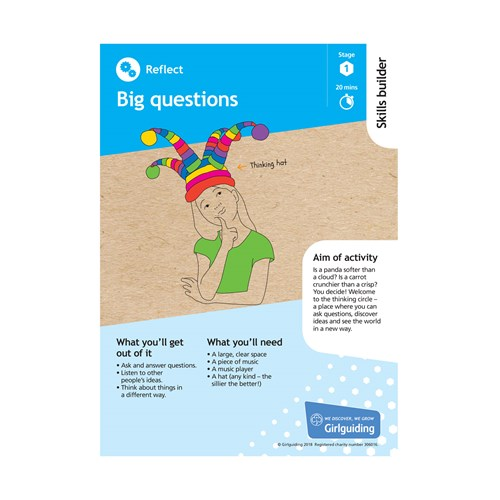 Reflect skills builder stage 1 big questions activity resource