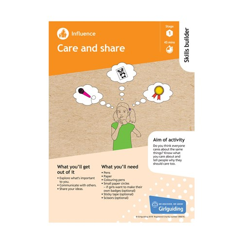 Influence skills builder stage 1 Care and Share activity resource