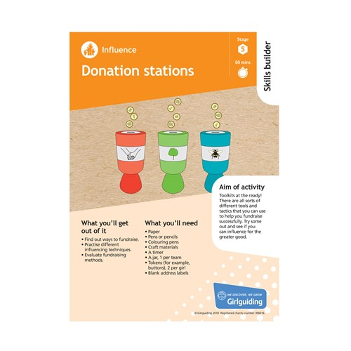 Influence skills builder stage 5 donation stations activity resource