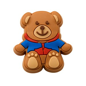 Guides teddy bear rubber pin badge