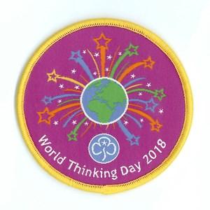 World Thinking Day 2018 woven badge