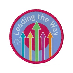 Leading the way woven badge