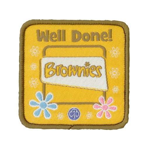 Well done brownies logo woven badge