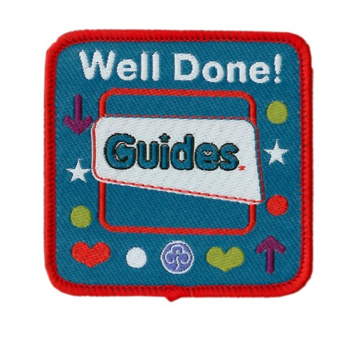 Well done guides logo woven badge