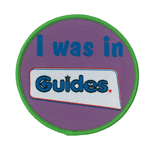 I was in guides woven badge