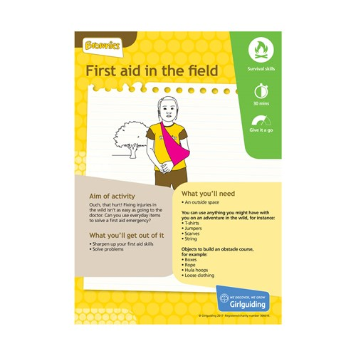 Brownies Unit Meeting Activity Have adventures First aid in the field