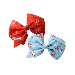 Rainbow red and blue hair bow clip 2pk