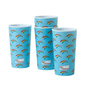Rainbows blue stacking plastic cups 4pk