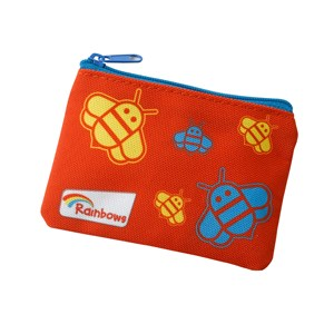 Rainbow polyester red coin purse