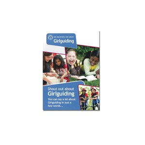 Shout out about Girlguiding leaflet marketing material