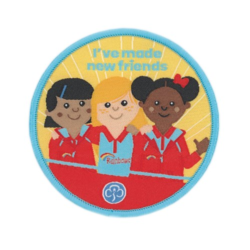 I've made new friends Rainbows woven badge