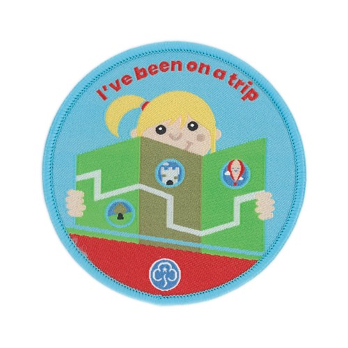 I've been on a trip Rainbows woven badge