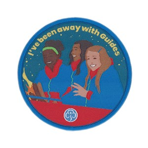 I've been away with Guides woven badge