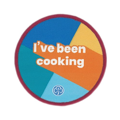 I've been cooking multi section woven badge