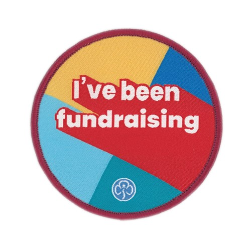 I've been fundraising multi section woven badge