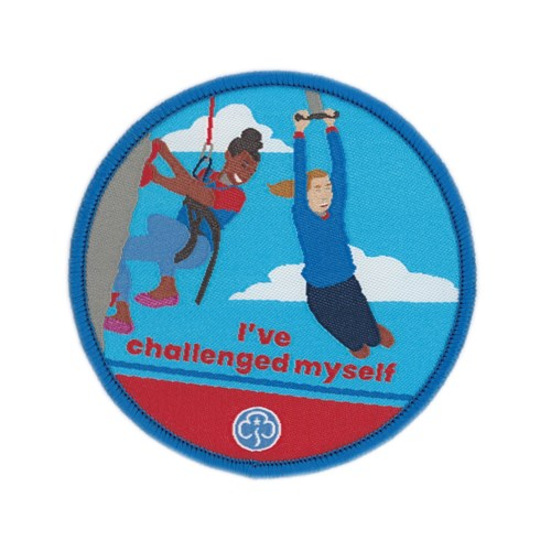 I've challenged myself Guides woven badge