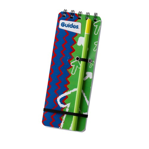 Guides notepad and pencil
