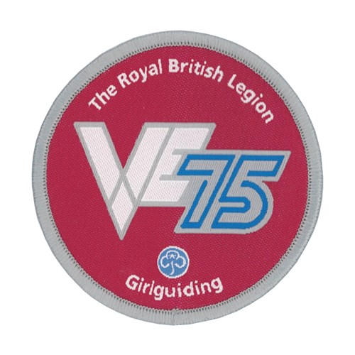 VE Day 75th anniversary woven badge