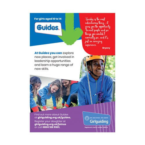 Guides recruitment marketing poster