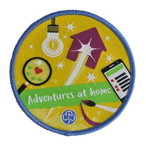 Adventures at home woven badge