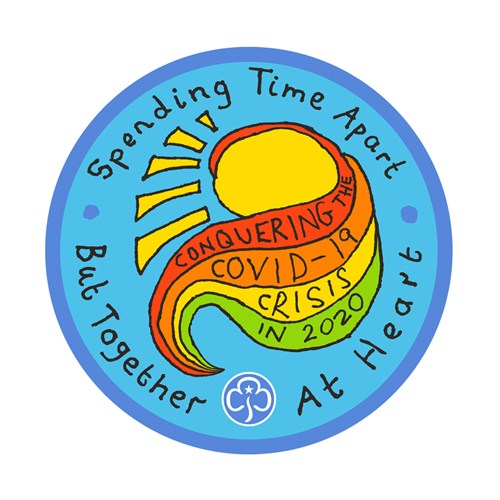 Together at heart Covid-19 woven badge
