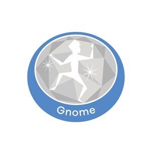 Gnome emblem metal badge
