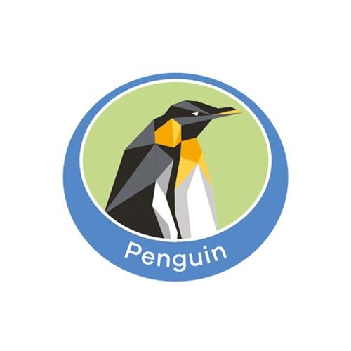 Penguin emblem metal badge