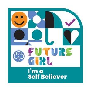 Future Girl Self Believer woven badge