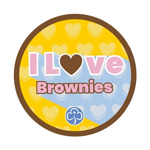 I love Brownies woven badge