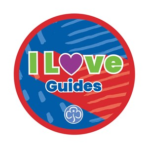 I love Guides woven badge