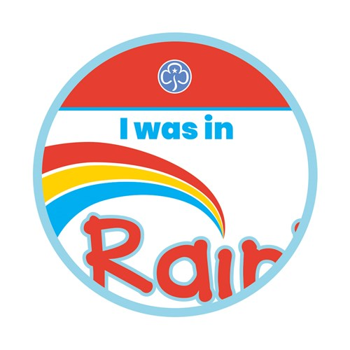 I was in Rainbows woven badge