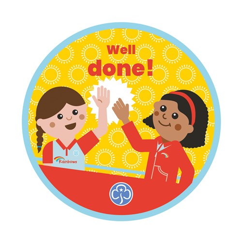 Well done Rainbows woven badge