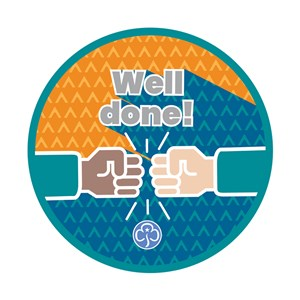 Well done Rangers woven badge