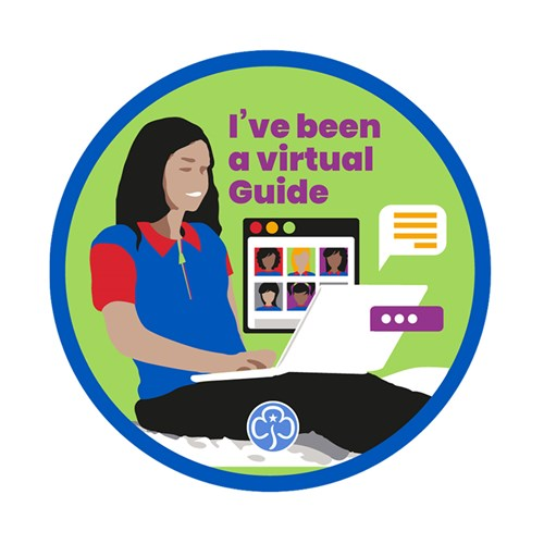 I've been a virtual Guide woven badge