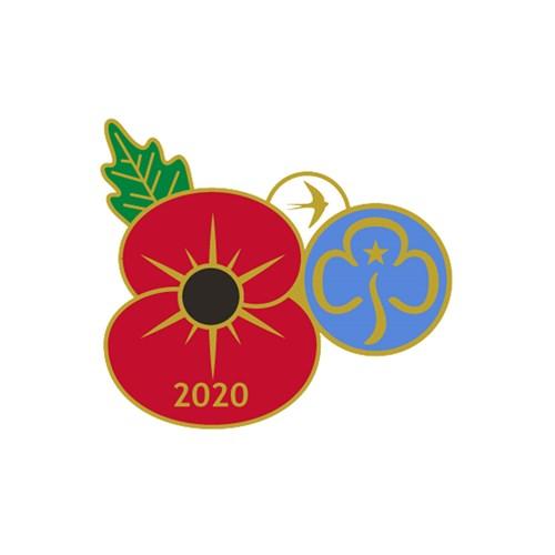 Royal British Legion Girlguiding Remembrance day pin badge 2020