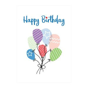 Happy Birthday cards 6 pack
